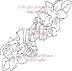 Aloha Sentiment with Flowers Clear Stamp