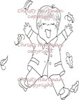 Jump for Joy Fall Erik Digital Stamp