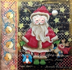 Santa and Friends Mixed Media Canvas