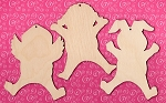 Easter Jump for Joy Laser Cut Wood Ornaments