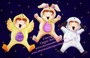 Jump for Joy Easter Ornaments E-Pattern