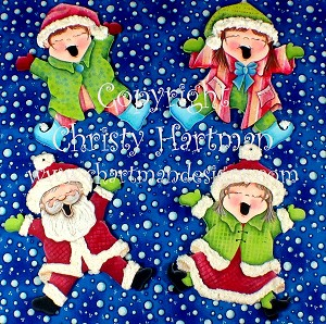 Christmas Joy Jump for Joy Ornaments E-Pattern